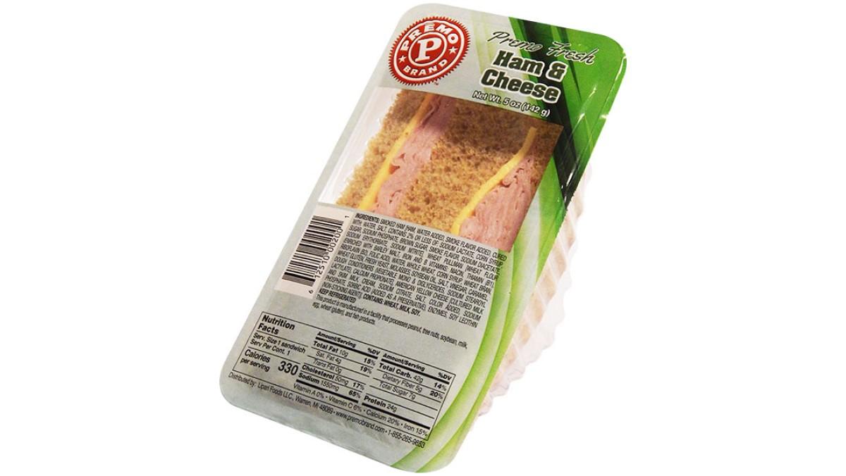 Premo and Fresh Grab Ham & Cheese Wedge Sandwiches