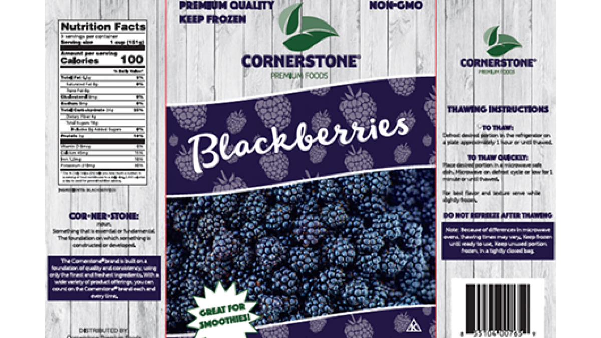 Cornerstone Frozen Blackberries